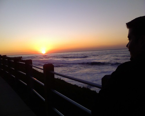 Andrew Watches Sunset