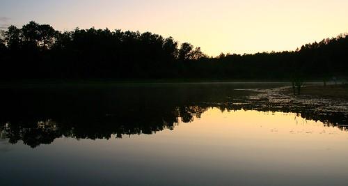 sunset reflection water alberta carvel stonyplain