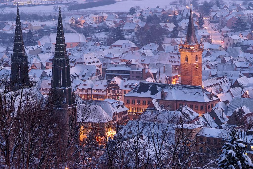 Noël à Obernai 2010 - sous la neige