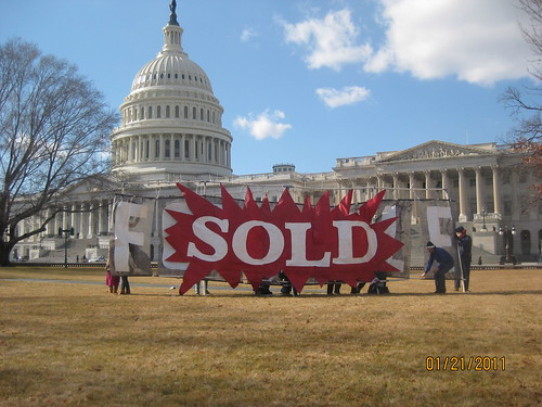 """Sold"" Backbone action at US Capitol on 1-21-11"