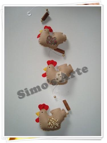 Mobile galinha by Artes by Simo's®
