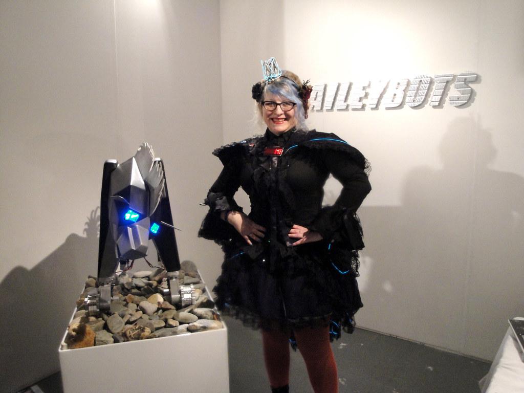 Kinetica art fair 2011 Baileybots stand