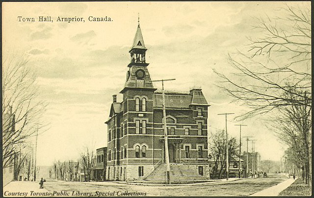 Arnprior (ON) Canada  City new picture : Town Hall, Arnprior, Ontario, Canada 1910 | Town Hall, Arn ...