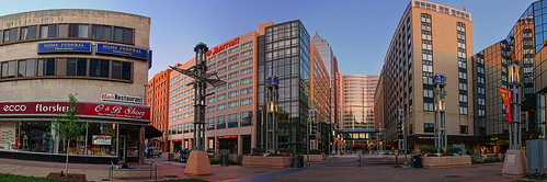 summer panorama minnesota pano earlymorning panoramic rochester mayoclinic rochestermn peaceplaza justaftersunrise kahlergrandhotel
