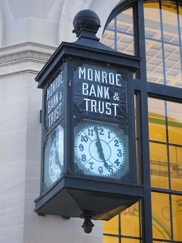 Clock, Monroe, MI