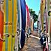 Surfboards at Waikiki by Bikenbibi