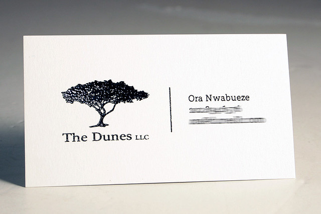 Raised Ink business card