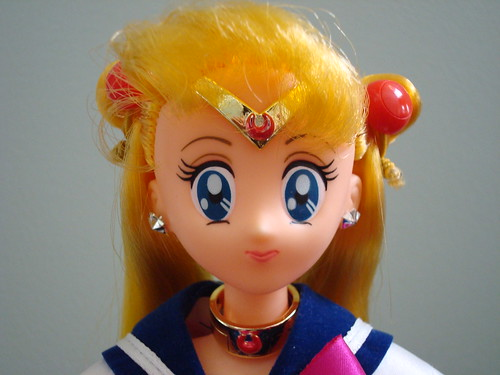 Korean Sailor Moon Doll Face Closeup