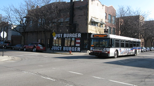 Westbound CTA bus on West Taylor Street. Chicago Illinois USA. Wednsday, March 16th, 2011. by Eddie from Chicago
