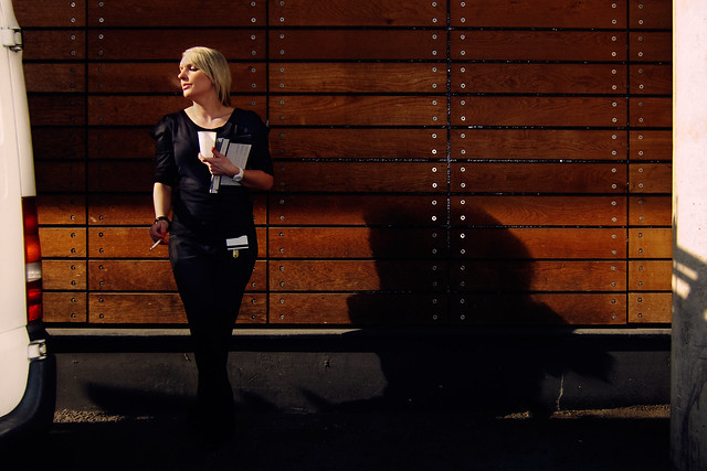 Photograph: Smoke Break; Broadmead, Bristol, March 2011. By Simon Holliday.