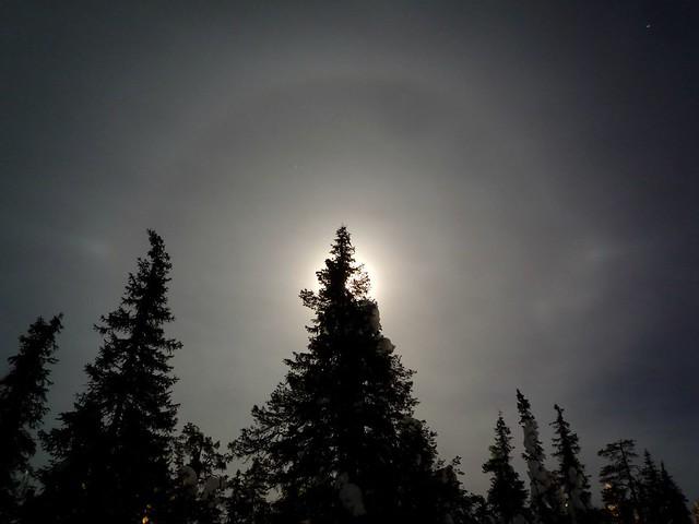 Halo de hielo lunar