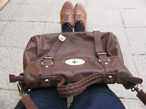 My bag and oxford shoes