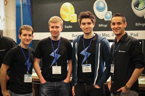 Josh, David and Joel at MacWorld!