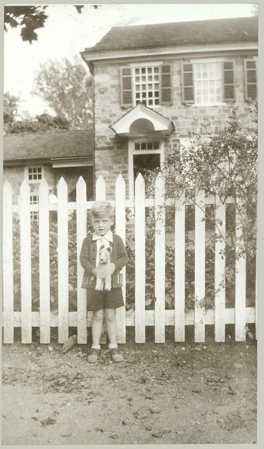 Boy at fence