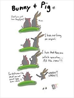 Being digital: Bunny and Pig (Adobe ideas)