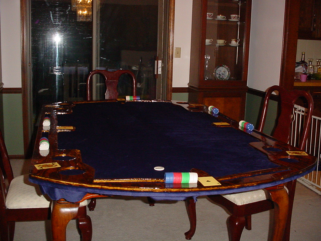 Poker table completed and placed