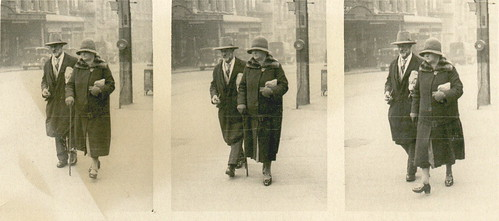 Edwin and Mary Lord (nee Meng) on the street