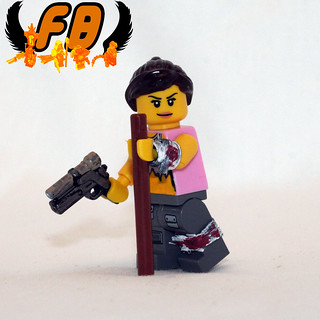 Post-Apoc Babe with BrickArms 2