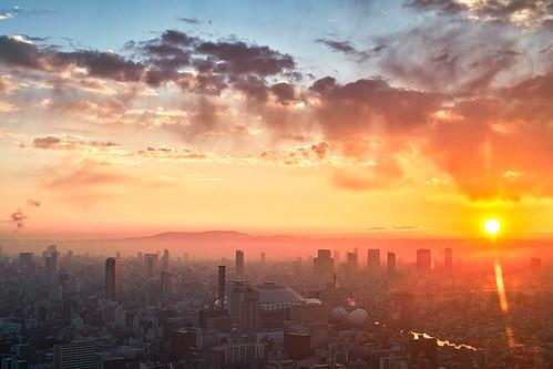 sunrise cityscape sigma 大阪 osaka foveon 朝日 朝焼け dp2s sigmadp2s fromosakabaytower
