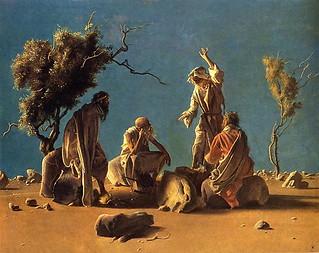 Annigoni, Pietro (1910-1988) - Anchorites in the Desert (Private Collection)
