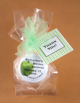 Green apple is one of our fall flavors for bridal shower favors and wedding