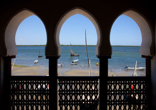 View from a room in Lamu House hotel - Lamu Kenya