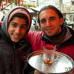 Friendly Tea Vendor at the Market in Downtown Amman, Jordan