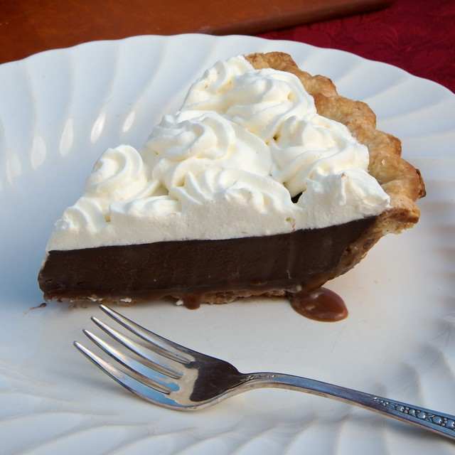 Caramel-Bottomed Guinness Chocolate Pie