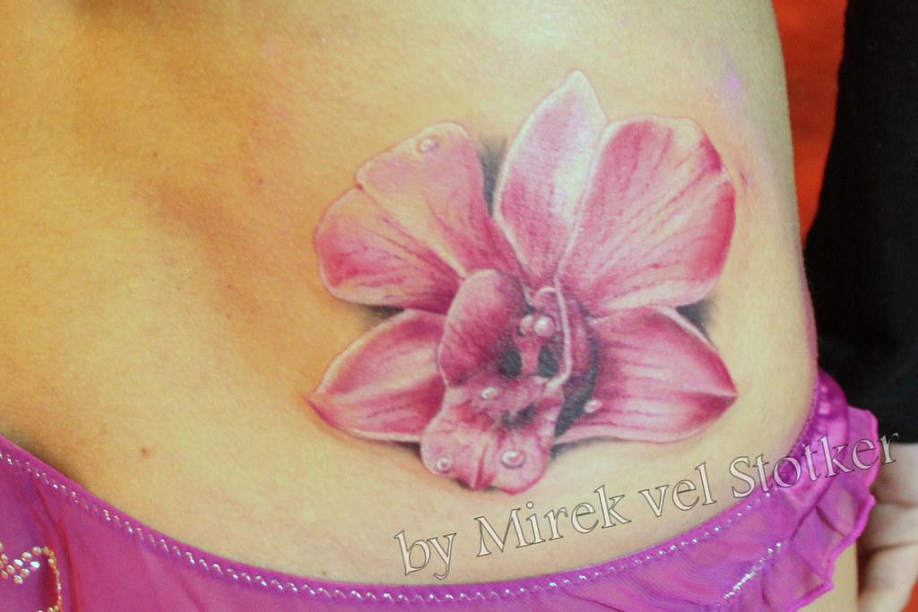 ee285c57c022b Orchid Tattoo By Mirek Vel Stotker Stotker Flickr