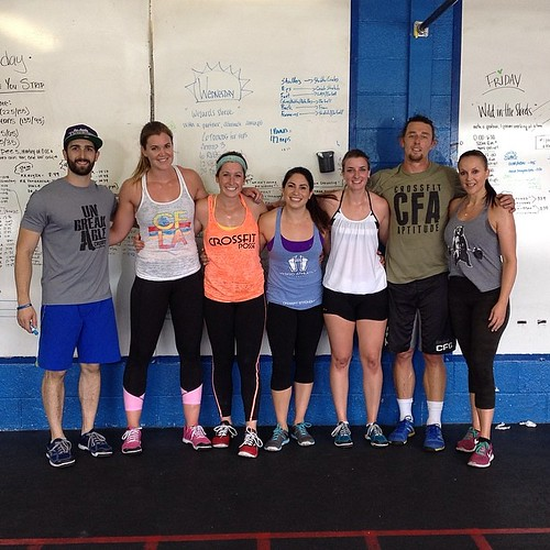 Capping off #FunWeek with Niki's birthday class/workout. Our friends from @deuce_gym Logan and Embo of  @mobotnation  came to play!