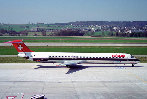 Swissair MD-81; HB-INS@ZRH;04.04.1995