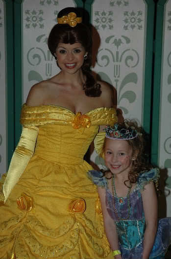 where to meet belle in disney world