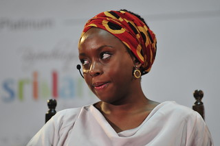 Chimamanda Ngozi Adichie at The Forum recording at the Galle Literary Festival