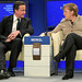 David Cameron, Angela Merkel - World Economic Forum Annual Meeting 2011