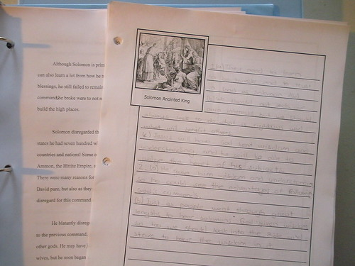 Notebooking Page Notes for Essay