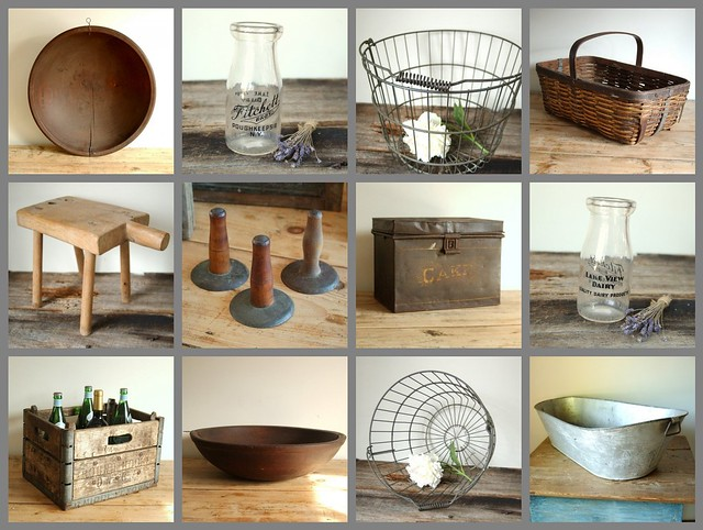 Farmhouse antique home decor collection flickr photo Vintage house decor