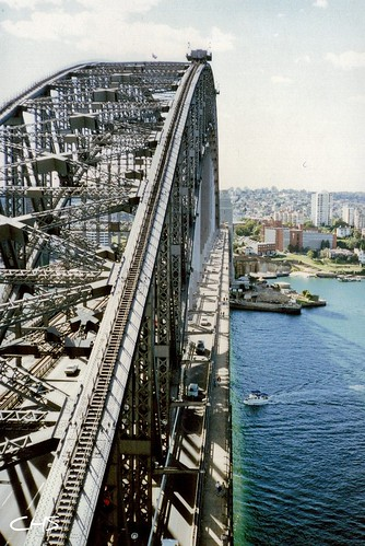 View from Harbour Bridge, 3rd June 1990 - Australia 1990 - Photo 014 by Stocker Images