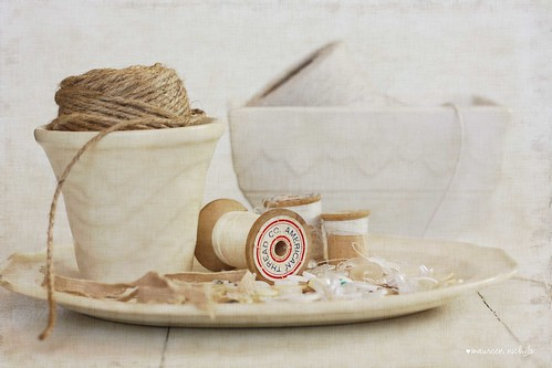 still life in cream