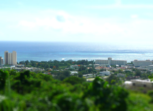 hotel resort saipan tiltshift miniaturefake