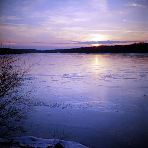 park sunset tlr film ice colors beautiful analog river lens photography coast reflex focus purple state kodak pennsylvania daniel c twin east pa medium format iced 100 manual february chipped yashica emulsion ektar codorus 2011 regner