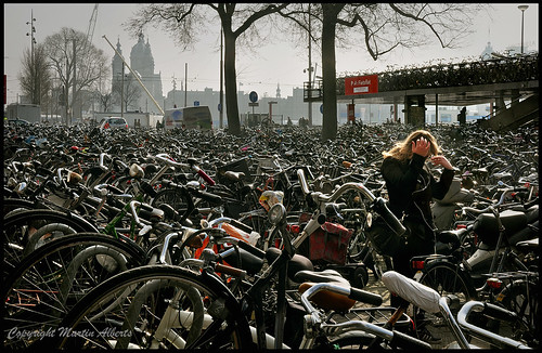 Oh my Gosh, where is my bike ?  Cycle Shed Amsterdam Central Station.