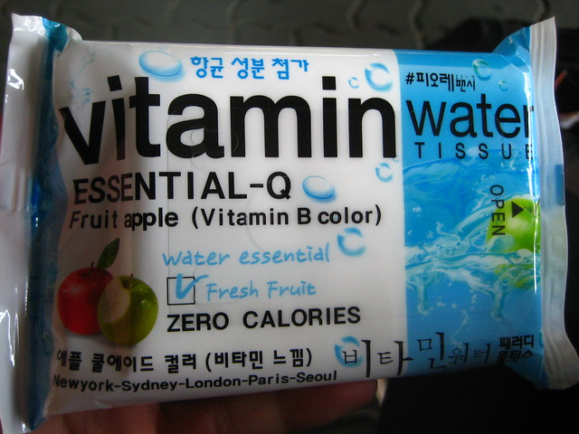 Vitamin Water Wet Tissues