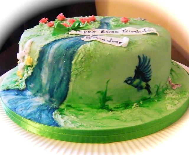 5506881065 6329d5b26d for Gardening 80th birthday cake