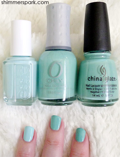 Essie mint candy apple orly gumdrop china glaze for for Asia asian cuisine richmond hill menu