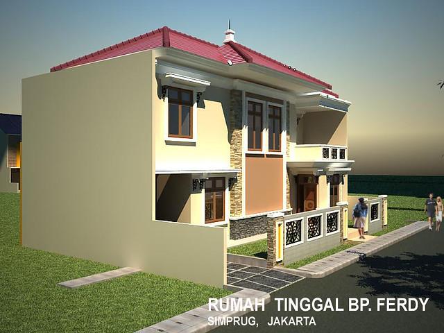 gambar rumah tinggal minimalis animasi exterior animasi