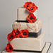 vintage lace & poppy wedding cake