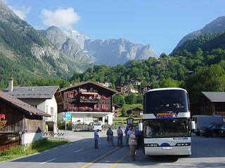 Busplatz vor Hotel