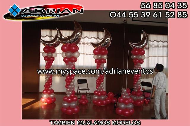 Decoraciones con globos decoracion con globos para xv for Decoracion de globos para 15 anos