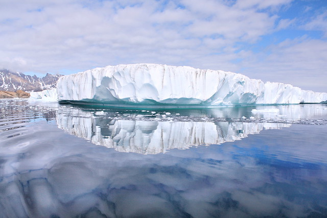 Glaciar en Tasillaq. Groenlandia.