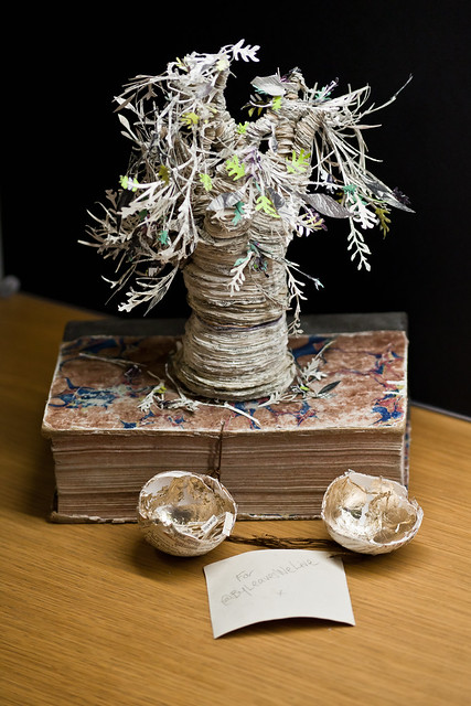 Edinburgh's mysterious altered book sculpture